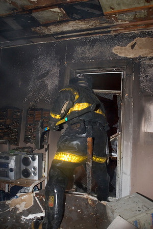 Squad 1's Jay Lopez doing his thing during overhaul.