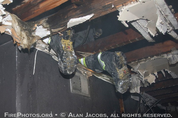 OVERHAUL: Still alarm 245 W. 107th St. Looking hidden fire in the cockloft<br /> 5/5