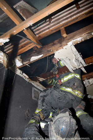OVERHAUL: Still alarm 245 W. 107th St. Looking hidden fire in the cockloft<br /> 2/5