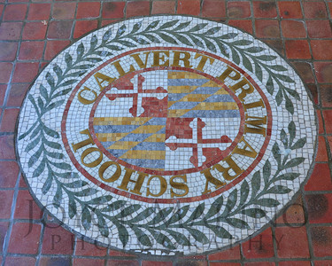 Calvert School seal in Lower School, # DSC_7358.  NO CHARGE FOR THIS.  IMAGE SHOT AT WRONG ANGLE.
