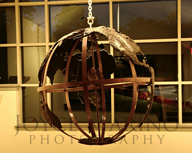 Globe in Calvert's Middle School at night, # DSC_7952