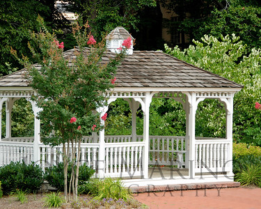 Gazebo on Calvert School grounds in the Spring, # DSC_0022