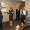 October 24, 2013.  Mary Alonzo, Director of GIPSA's Technology and Science Division welcomed Sec. Tom Vilsack to the National Grain Center, Kansas City, MO.  Ron Metz, Eric Jabs, and a member of Sec. Vilsak's security staff watch.