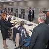 Mary Alonzo, Director of GIPSA's Technology and Science Division, describes the functions of GIPSA's Board of Appeals and Review to Sec. Tom Vilsack on October 23, 2013 as the members of the Board of Appeals and Review  and the Grading Services Laboratory listen.  USDA photo by David Funk.