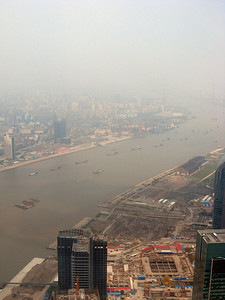 Right to left, from the top of the Pearl, Shanghai panorama-#5