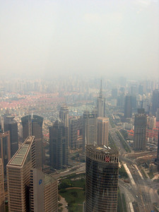 Right to left, from the top of the Pearl, Shanghai panorama-#2