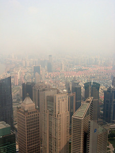 Right to left, from the top of the Pearl, Shanghai panorama-#3