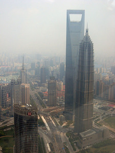 Right to left, from the top of the Pearl, Shanghai panorama-#1