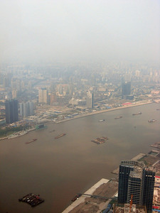 Right to left, from the top of the Pearl, Shanghai panorama-#6