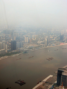 Right to left, from the top of the Pearl, Shanghai panorama-#7