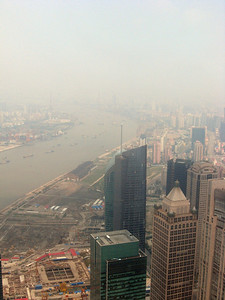 Right to left, from the top of the Pearl, Shanghai panorama-#4