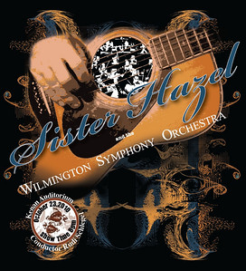 Chords for a Cause, Sister Hazel concert. This was the T-shirt design created for the benefit concert by Sister Hazel and the Wilmington Symphony Orchestra at the Kenan Auditorium.  I was responsible for creating all promotional artwork for concert and marketing.