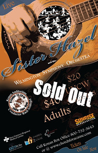 Chords for a Cause, Sister Hazel concert. This was a benefit concert by Sister Hazel and the Wilmington Symphony Orchestra at the Kenan Auditorium.  I was responsible for creating all promotional artwork for concert and marketing.