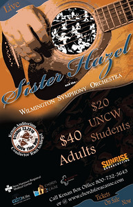 Chords for a Cause, Sister Hazel concert. This was the concert poster created for the benefit concert by Sister Hazel and the Wilmington Symphony Orchestra at the Kenan Auditorium.  I was responsible for creating all promotional artwork for concert and marketing.