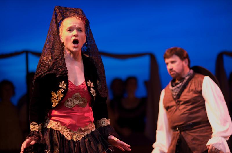 Carmen, played by Soprano Jenny Knapp. Opera Pacifica, 2009