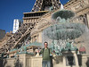 Large fountain in front of Paris