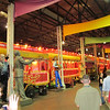 The nerd (Microsoft conference) party in NOLA at Blaine Kern's Mardi Gras World.<br /> Blew away (in content and attendance) the last few we attended in Los Angeles.<br /> The superfloat (train) of Harry Connick Jr.'s mega-krewe, Orpheus.