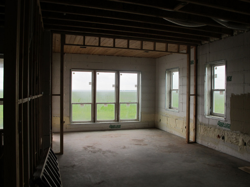 Master bedroom and sun room.
