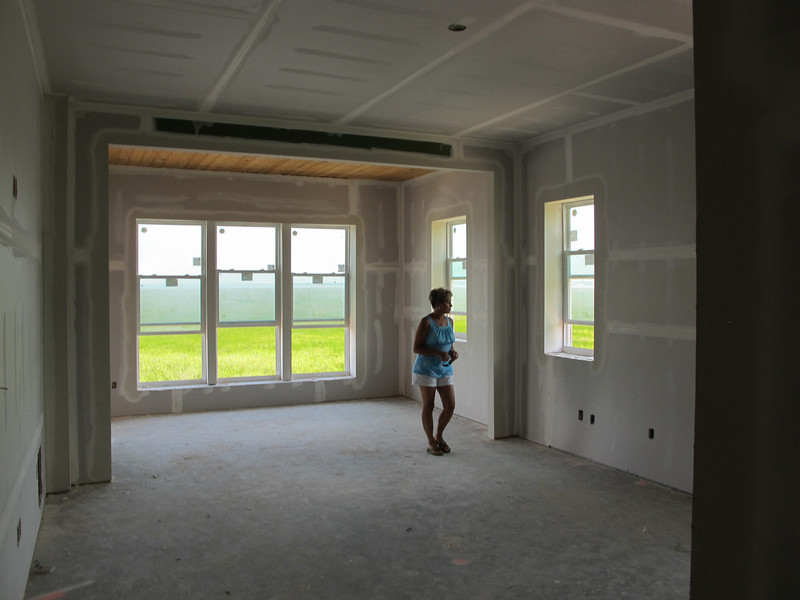 Parents' new house (post-Katrina) on the same property as the Pre-K one. This time, with sheetrock!