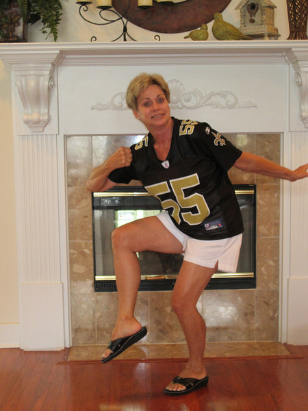 One of mom's many Heisman post attempts.
