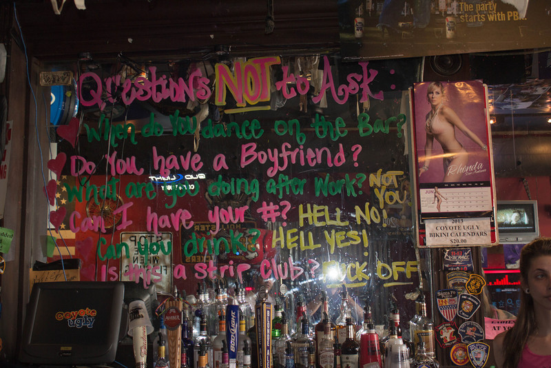 Coyote Ugly. Still stuff that should be published. And they had $6 PB&J (Pabst Blue and Jagermeister.)