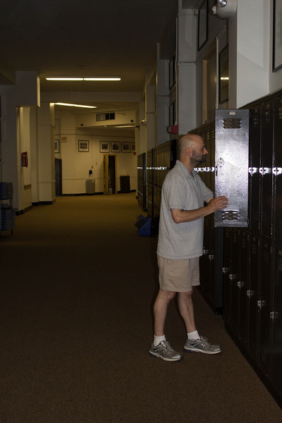 Checking out the old locker