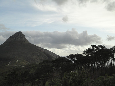 Atop Signal Hill-Panorama--Lion's Head and Table Mountain