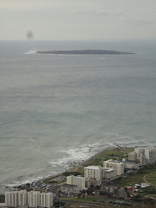 View of Robben Island from atop Signal Hill