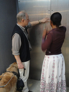 Cape Town Holocaust Center and Jewish Museum--Jeremy Opperman on tour with an AD trainee
