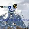 VEYSONNAZ, SWITZERLAND - JANUARY 22: Finalist Matija Mihic (SLO) at the  FIS World Championship Snowboard Cross finals : January 22, 2012 in Veysonnaz Switzerland