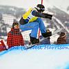 VEYSONNAZ, SWITZERLAND - JANUARY 22: Finalist Alex Diebold (USA) at the  FIS World Championship Snowboard Cross finals : January 22, 2012 in Veysonnaz Switzerland