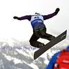 VEYSONNAZ, SWITZERLAND - JANUARY 22: Finalist Christopher Fischer (AUT) jumping in the FIS World Championship Snowboard Cross finals : January 22, 2012 in Veysonnaz Switzerland