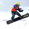 VEYSONNAZ, SWITZERLAND - JANUARY 22: Third place Emanuel Perathoner (ITA) jumping at the FIS World Championship Snowboard Cross finals : January 22, 2012 in Veysonnaz Switzerland