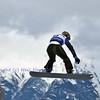VEYSONNAZ, SWITZERLAND - JANUARY 22:  Alberto Schiavon (ITA)  jumping in the FIS World Championship Snowboard Cross finals : January 22, 2012 in Veysonnaz Switzerland
