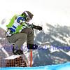 VEYSONNAZ, SWITZERLAND - JANUARY 22: Andrey Boldikov (RUS) at the FIS World Championship Snowboard Cross finals : January 22, 2012 in Veysonnaz Switzerland