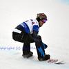 VEYSONNAZ, SWITZERLAND - JANUARY 21: finalist Alberto Schiavon (ITA) in the FIS World Championship Snowboard Cross finals : January 21, 2012 in Veysonnaz Switzerland