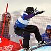 VEYSONNAZ, SWITZERLAND - JANUARY 21: Silver medalist Marku Schairer (AUT) in the FIS World Championship Snowboard Cross finals : January 21, 2012 in Veysonnaz Switzerland