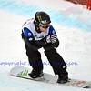 VEYSONNAZ, SWITZERLAND - JANUARY 21: World Champion Nate Holland (USA) at the FIS World Championship Snowboard Cross finals : January 21, 2012 in Veysonnaz Switzerland