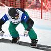 VEYSONNAZ, SWITZERLAND - JANUARY 21: finalist Paul-Henri de le Rue (FRA) at the FIS World Championship Snowboard Cross finals : January 21, 2012 in Veysonnaz Switzerland