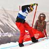 VEYSONNAZ, SWITZERLAND - JANUARY 21: Finalist Alex Pullin (AUS) in the FIS World Championship Snowboard Cross finals : January 21, 2012 in Veysonnaz Switzerland
