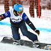 VEYSONNAZ, SWITZERLAND - JANUARY 21: Finalist Omar Visintin (ITA) at the FIS World Championship Snowboard Cross finals : January 21, 2012 in Veysonnaz Switzerland