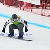 VEYSONNAZ, SWITZERLAND - JANUARY 19: World champion Andrey Baldokov (RUS) in the  FIS World Championship Snowboard Cross finals : January 19, 2012 in Veysonnaz Switzerland