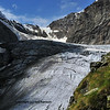 The Tiefmatten glacier between the Matterhorn and the Dent d'Herens viewed from the Stockji mountain