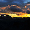 Sunset in the Swiss alps seen from the Bertol Refuge (3311m)