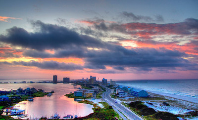 HDR, Pensacola Beach at Dawn