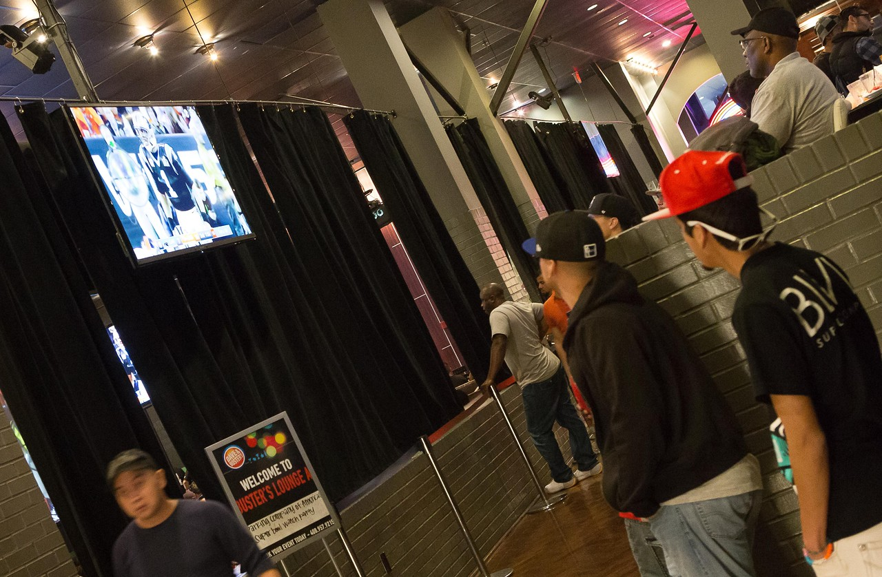 @ DnB - There were many viewing areas in DnB, around the bar, Special group areas for fans to watch the game.