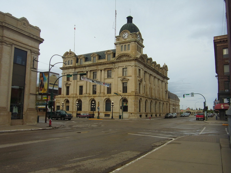 City hall in downtown Moose Jaw.