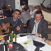 Pasha Ponaramenko and Mike Ruohoniemi sing Russian folk tunes at the dinner.