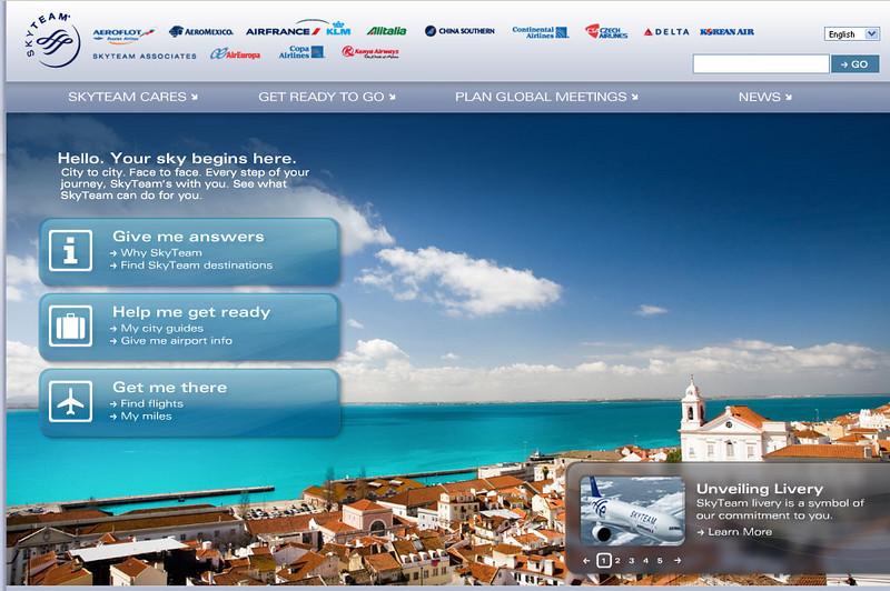 Lisbon image used on SkyTeam website (screenshot)