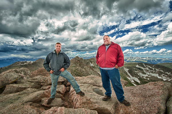 """Freedom"" This is a shot of my father and I standing on the top of Mt. Evans (little over 14,000ft)"